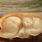 A bear. Realistic Wood Sculptures by Randall Boni