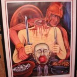 Horror paintings by Doctor Death. Kevorkian's macabre paintings at auction