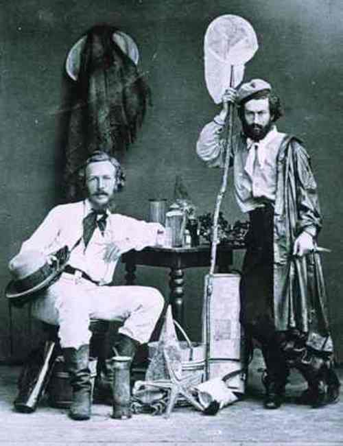 Ernst Haeckel (left) with his assistant Miklouho-Maclay in the Canary Islands. December 1866