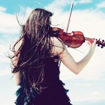 Girl with violin, wallpapers