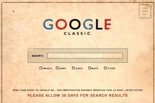 Google classic. Vintage futurism of retro inspired ads