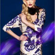 Gzhel style dress