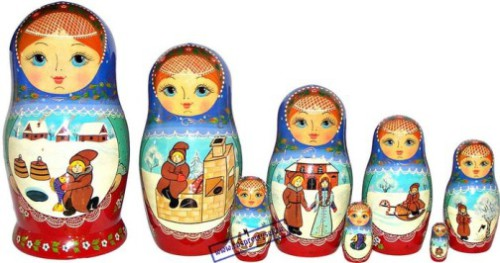 Matryoshka in The Museum of Toys in Sergiev Posad