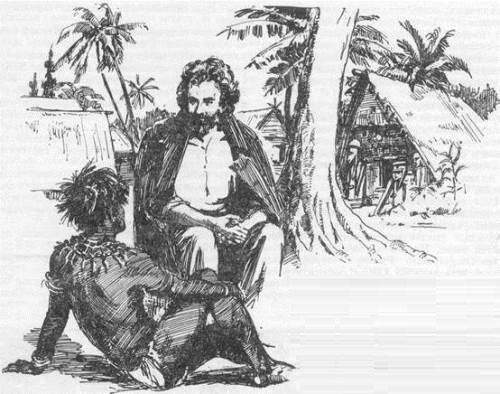 Mikluho - Maclay and his friend Papuan Tui