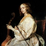 Young Woman Playing a Viola da Gamba (oil on canvas) by Dyck, Sir Anthony van (1599-1641)