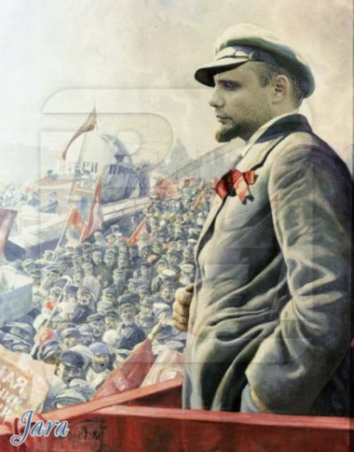 Creative and talented Semyon Frolov in the image of Vladimir Lenin