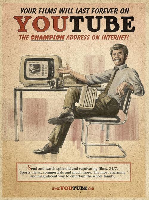 Youtube - Vintage futurism of retro inspired ads