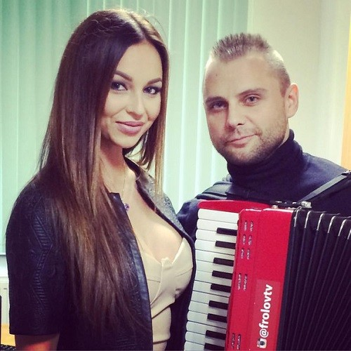ex-participant Semyon Frolov and Anastasiya Lisova, today most beautiful participant of reality show Dom-2 on TNT, October 2015