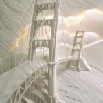 Paper sculptures by American artist Jeff Nishinaka