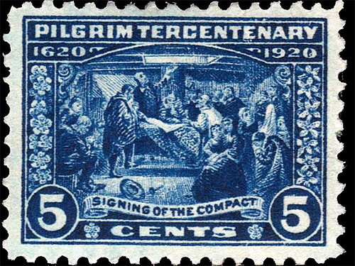 Thanksgiving and the pilgrims. 5 cents