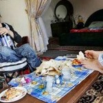 A couple - Ahmed and Fatima having lunch
