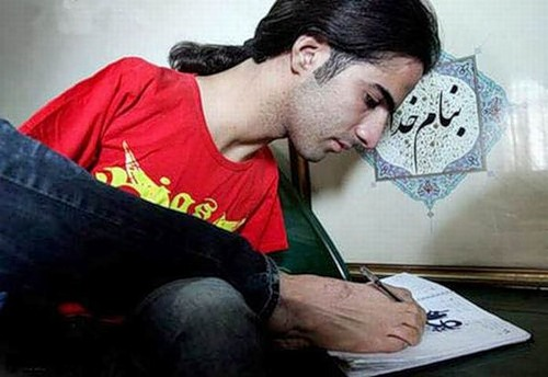 Ahmed doing sketches