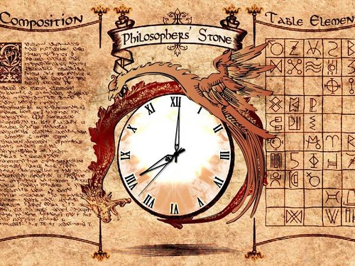Alchemist clock. Lost time is never found again
