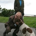 Visiting George Bush and his dog, Vladimir Putin