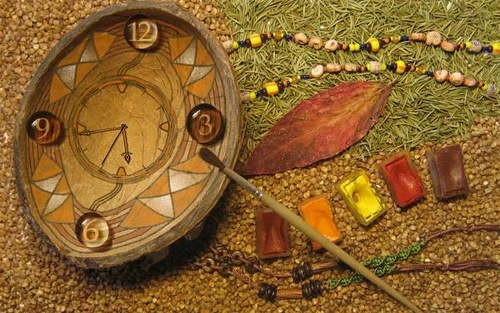 Artistic painting clock. Lost time is never found again