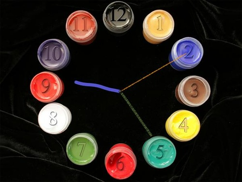 Artistic palette clock. Lost time is never found again