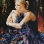 Black Swan, painting by Russian realist artist Anna Vinogradova