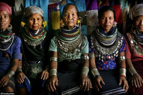 Bru Tribal elders at Naisingpara refugee camp, Tripura. Human Planet by Timothy Allen