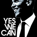 Yes, we can. Barack Hussein Obama. Celebrity portraits by American vector artist Mel Marcelo