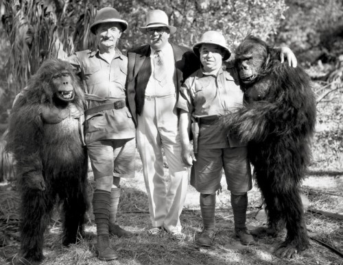 The Gorilla 1927 silent horror film. Charlie Murray, director Vin Moore and George Sidney in The Cohens and Kellys in Africa (1931)