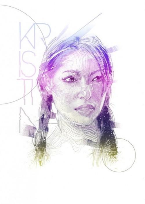Christina. Illustration by Italian artist Alberto Russo