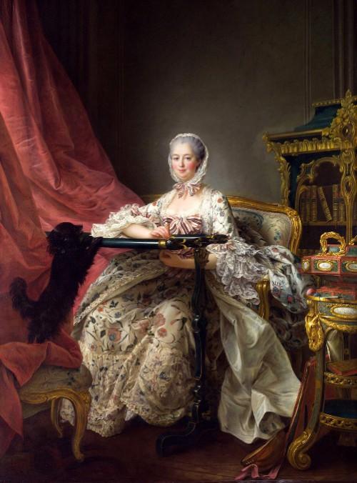 Commemorative Portrait of Madame de Pompadour. French painter François-Hubert Drouais (December 14, 1727 – October 21, 1775)