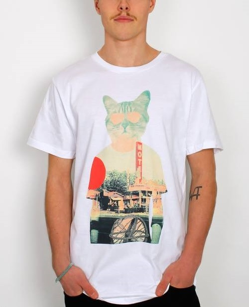 Cool Cat t-shirt at T shirt. Artwork by Turkish artist and graphic designer Ali Gulec