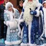 Traditional outfit of Russian Ded Moroz and Snegurochka