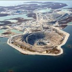 Diavik Mine, Canada. The mine is so huge and the area