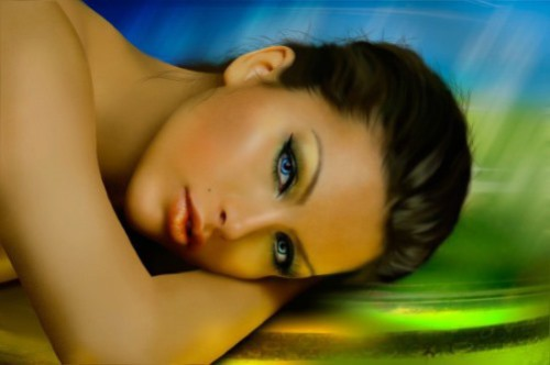 Digital painting, unknown subject. Realistic digital painting by American artist Alice Newberry