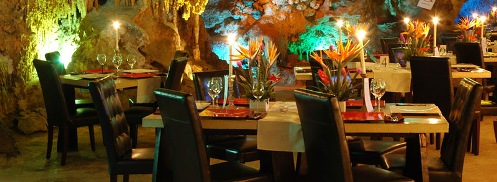 Unusual restaurants. Dinner in a cave