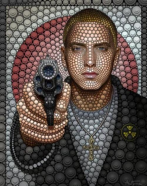 Eminem. Digital Pointillism by Belgian artist Ben Heine