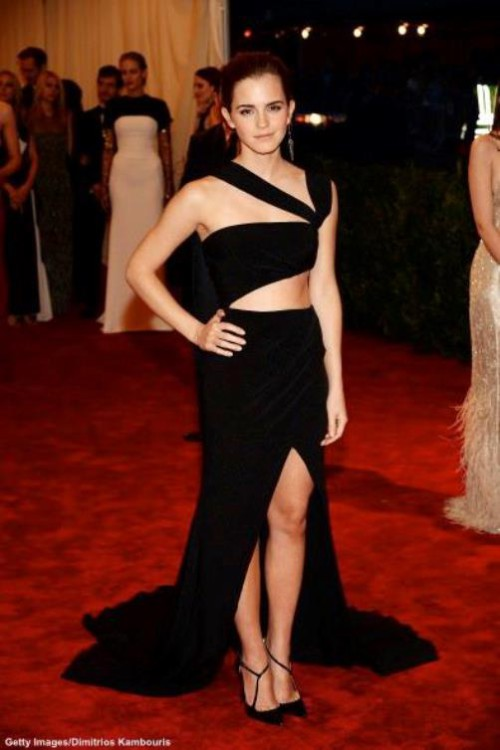 Emma in Prabal Gurung on the Red Carpet for the 2013 Met Gala.