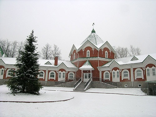 Christmas decorations factory in Klin
