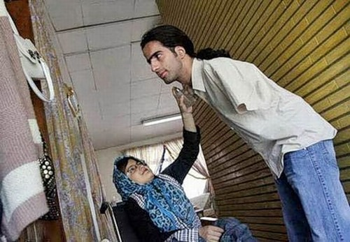 Pakistani married couple with disabilities Ahmed and Fatima
