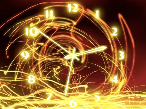 Freeze light fluorescent clock