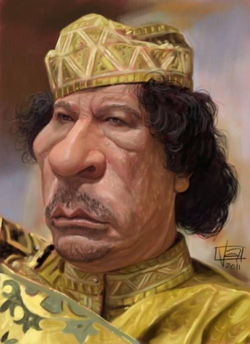 Gaddafi. Caricature by Italian Concept artist Lamolinara Vincenzo