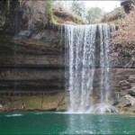 Waterfall. Lake Hamilton in Texas