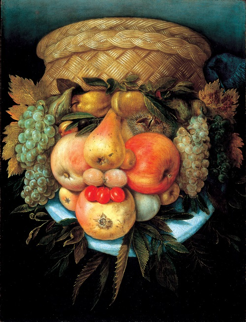 Head with Fruit Basket (reversed view), ca. 1590