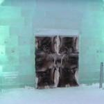 Unique Ice Hotel in the village of Jukkasjarvi, Sweden
