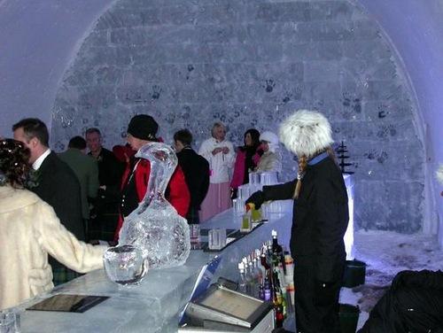 Ice Hotel in the village Jukkasjarvi, Sweden
