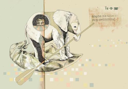 Illustration by Israeli artist Gabriella Barouch