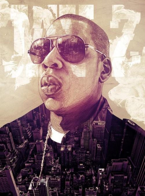 Jay-Z. Empire State of Mind. Illustration for poster. Italian artist Alberto Russo