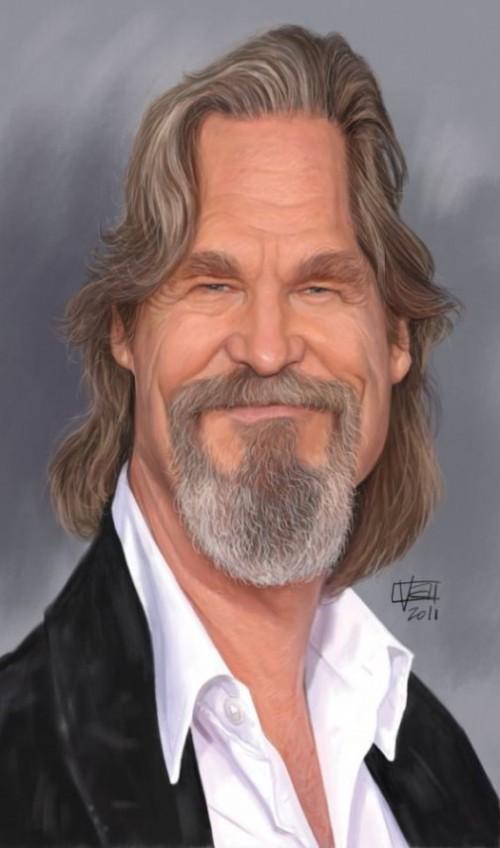 Jeff Bridges. Caricature by Italian Concept artist Lamolinara Vincenzo