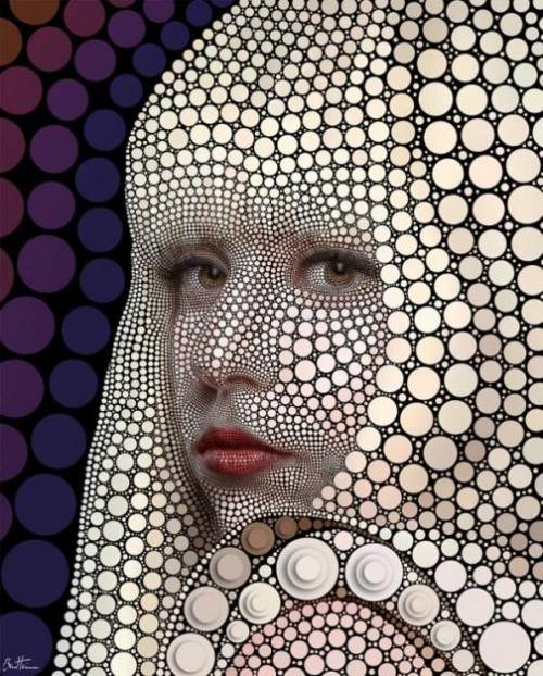 Lady Gaga. Digital Art by Ben Heine
