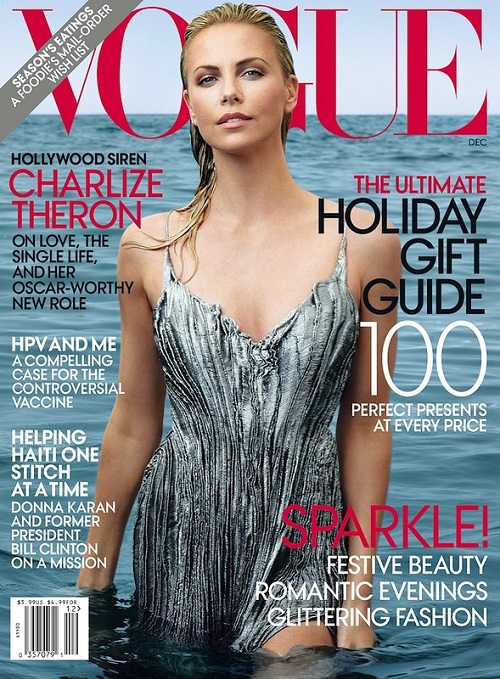 Like Aphrodite rising from the sea Charlize Theron