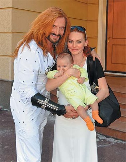 Marina Anissina with her husband, Russian actor Nikita Djigurda