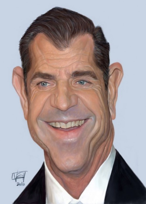 Mel Gibson. Caricature by Italian Concept artist Lamolinara Vincenzo