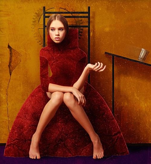 Model Alexandra Belyaeva, make up & hair Eva Smolentseva, Aleksandr Borisov Studio