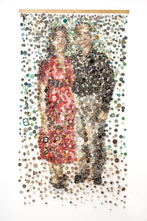 Moment. Artwork of buttons by Lisa Kokin